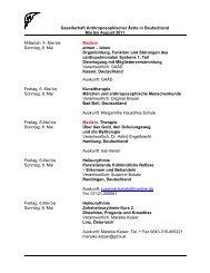 Mai bis August 2011 - Gesellschaft Anthroposophischer Ärzte in ...