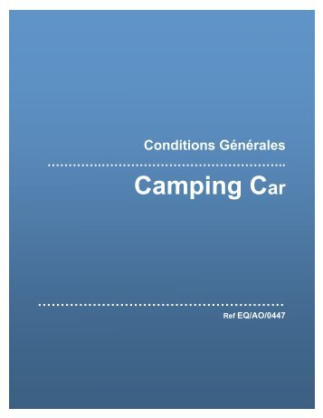 Assurance camping-car