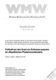 Preßsaft aus dem Kraut von Echinacea purpurea: ein allopathisches ...