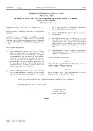 Kommissionens forordning (EF) - EUR-Lex - Europa