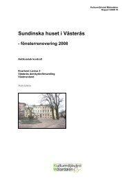 Sundinska huset i Västerås - Stiftelsen Kulturmiljövård