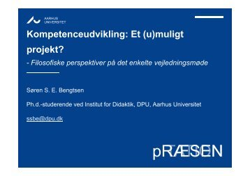Et (u)muligt projekt? - Dansk Universitetspædagogisk Netværk