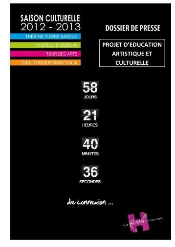 Dossier de presse Actions culturelles 2012 2013 - Les Herbiers