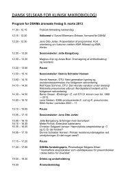 Nyt program - Dansk Selskab for Klinisk Mikrobiologi
