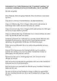 Statsminister Lars Løkke Rasmussens tale i Grønlands Landsting ...