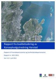 Rapport fra kvalitetssikring av ... - Statens vegvesen