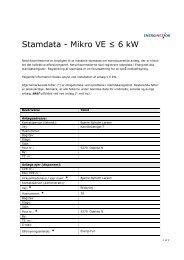Stamdata - Mikro VE ≤ 6 kW - DE - Installations blanket