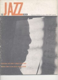 review - Jazz Studies Online