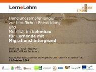 Lehmbau für Lernende mit Migrationshintergrund - Lernpunktlehm.de