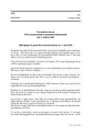 DK 1. oktober 2004 KTO Sekretariat Formandens tale på KTO's ...