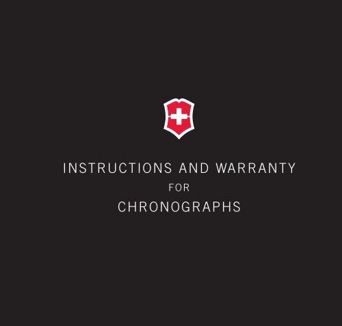 INSTRUCTIONS AND WARRANTY CHRONOGRAPHS - Victorinox