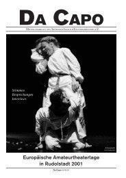 DaCapo - Europäische Amateurtheatertage 2001 - TAT-Online ...