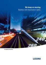 deutsch - LEONI Business Unit Automotive Cables
