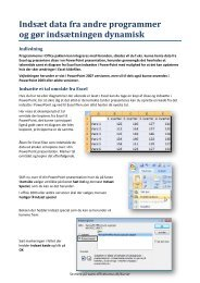 Indsæt data fra andre programmer og gør ... - Officekursus