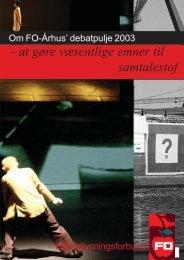 rapporten samlet for 2003 i pdf-format - FO-Aarhus