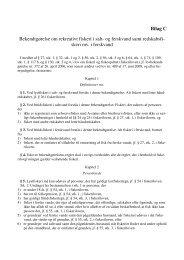 Bilag C Bekendtgørelse om rekreativt fiskeri i salt- og ferskvand samt ...