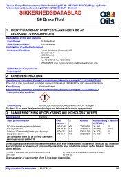 SIKKERHEDSDATABLAD - Q8 - Kuwait Petroleum (Danmark) A/S