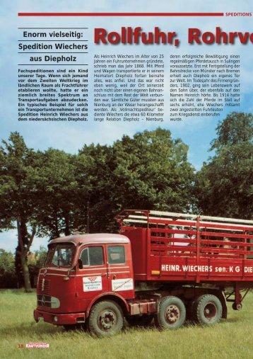Spedition Wiechers aus Diepholz - Wiechers - Diepholz