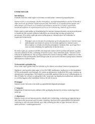 ETISKE REGLER Introduksjon Formålet med IIAs etiske regler er å ...