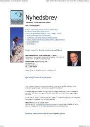 Se nyhedsbrevet i PDF format klik her - Hadler DMC