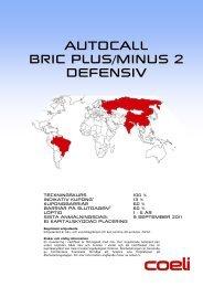 Broschyr Autocall BRIC Plus/Minus 2 Defensiv - Coeli