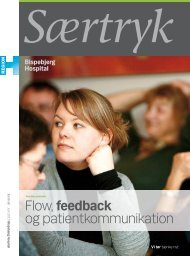 Flow, feedback og patientkommunikation - Bispebjerg Hospital