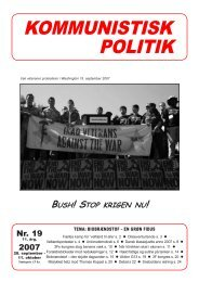Kommunistisk Politik 19,2007
