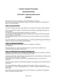 Cochlear Implant Foreningen Generalforsamling 12.03.2011 i ...