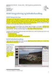 RAW fotografering og billedbehandling - Hørsholm Fotoklubs