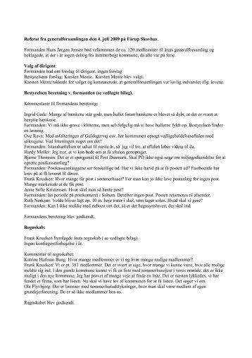 Referat 2009 - Saltum Strand Grundejerforening