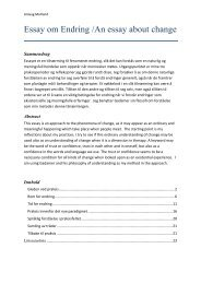 Essay om Endring /An essay about change - etiskpraxis
