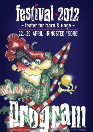 teater for børn & unge - Festival 2012