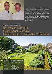 Jannis Brevet, Chef-kok en Claudia Brevet, Gastvrouw Manoir ...