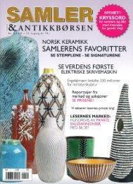 Se reportasje fra Samleren nr 2 2008 - Norsk keramikk
