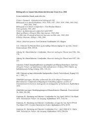 Bibliografi over dansk fiskerihistorisk litteratur frem til ca. 2002 Listen ...