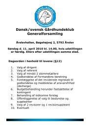 Generalforsamlingshæfte (2010-04-11) - Dansk/svensk ...