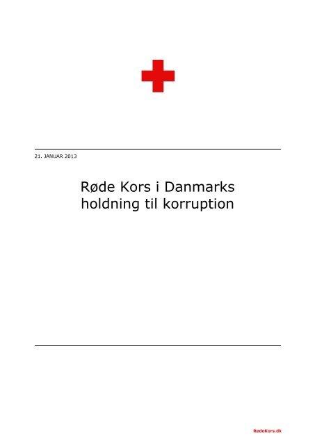 holding til korruption (pdf) - Røde Kors