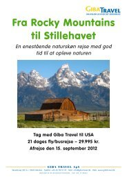 Fra Rocky Mountains til Stillehavet - GIBA Travel