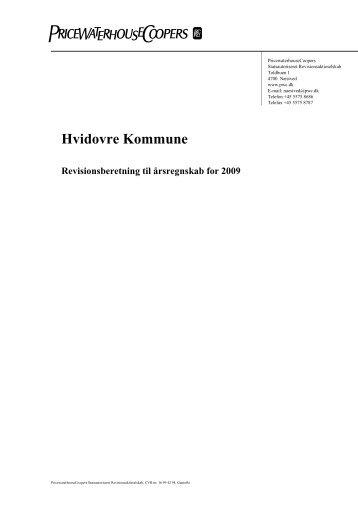 Revisionsberetning til årsregnskabet for 2009 - Hvidovre Kommune