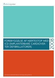 Forebyggelse aF hjertestop med ICd - Sundhedsstyrelsen