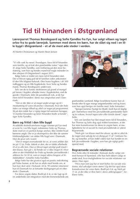 Tid til hinanden i Østgrønland - Friskolebladet