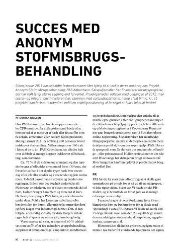succes med anonym misbrugsbehandling - Stof
