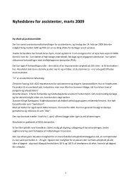 Nyhedsbrev for assistenter, marts 2009