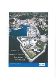 informationsfolder om Thisted renseanlæg - Thisted vand