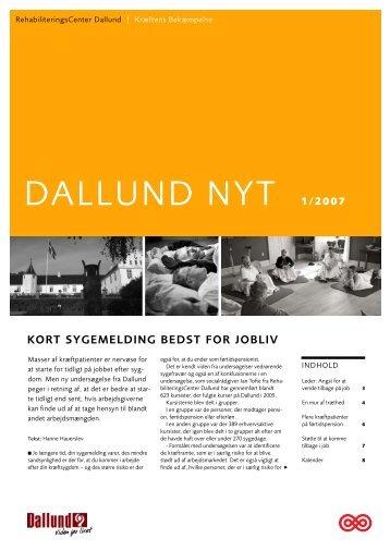Nyhedsbrev nr. 1/2007 Kort sygemelding bedst for jobliv - Kræftens ...