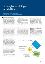 Strategisk udvikling af produktionen