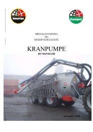 KRANPUMPE - bundindløb - Thyregod A/S
