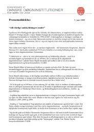 Pressemeddelelse 03 06 2009.pdf - Foreningen af Danske ...