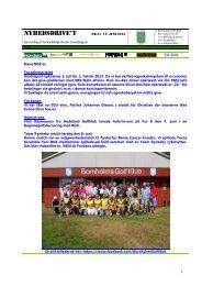 NYHEDSDRIVE'T NR.21 11. JUNI 2013 - Bornholms Golf Klub