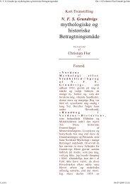 N. F. S. Grundtvigs mythologiske og historiske Betragtningsmåde